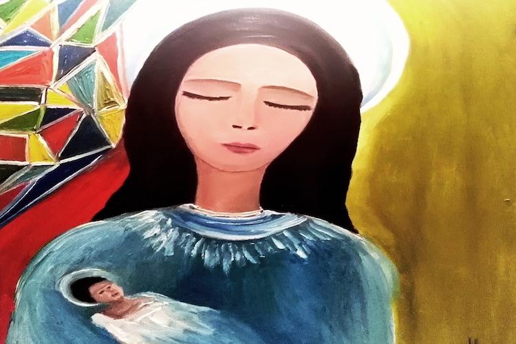 La pittrice messinese Antonella Bonaffini abbraccia la Caritas