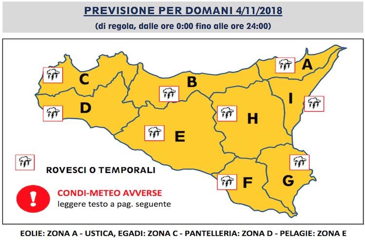 Il maltempo non molla la Sicilia, diramata un'altra Allerta Codice Arancione
