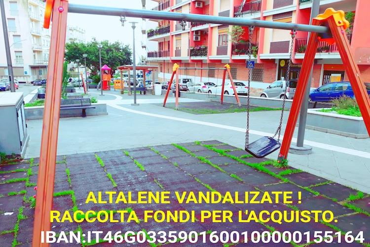 Altalene vandalizzate sul torrente Trapani, avviata una raccolta fondi