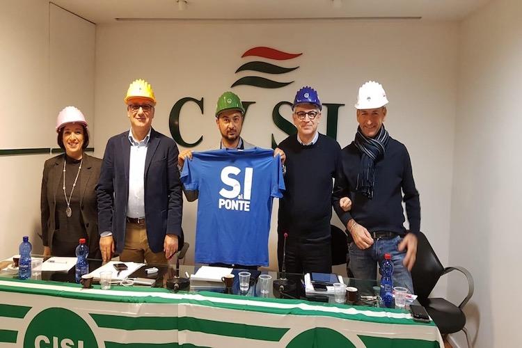 """Filca Cisl: """"Ponte sullo Stretto opera strategica fondamentale per tutta la Sicilia"""""""