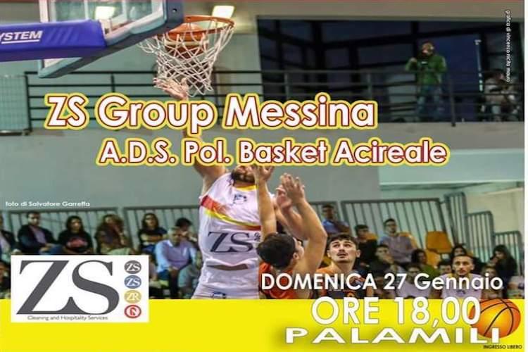 ZS Group Messina ospita l'Acireale. Obiettivo vincere per scalare la classifica