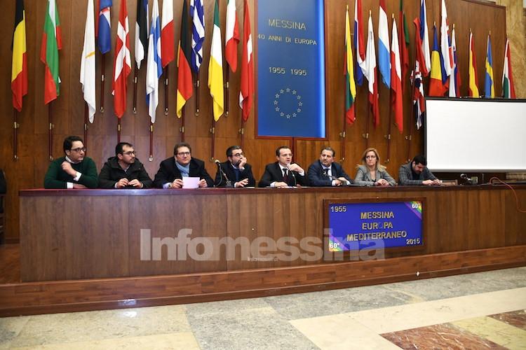 Conferenza stampa di Cateno De Luca con i presidenti di Acr Messina, CdM e Camaro