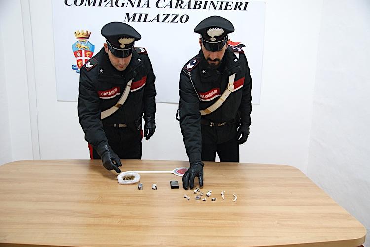 Hashish e marijuana in casa, arrestato 47enne di S. Filippo del Mela