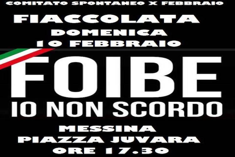 Insieme per non dimenticare il 10 febbraio a Messina fiaccolata in ricordo dei martiri delle foibe