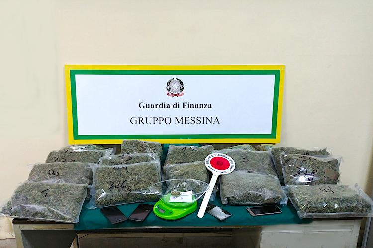 Sorpresi a dividere la marijuana in dosi, cinque arresti a Giostra, sequestrati 5 kg di droga