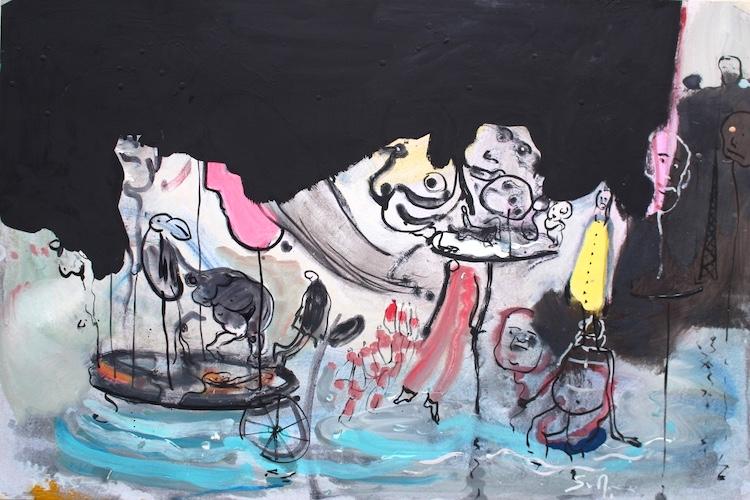 """""""Carte"""", mostra personale di Ignazio Schifano, presso lo Studio D'Arte Cocco"""