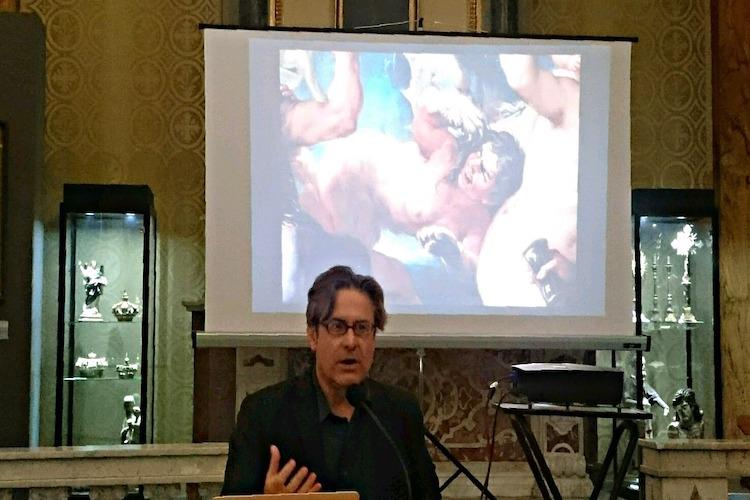 """Luigi Giacobbe spiega il quadro """"Messina Restituita alla Spagna"""" di Luca Giordano"""
